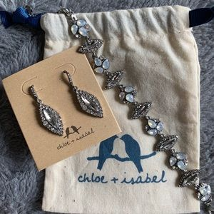 Belle Chloe + Isabel bracelet & earring set